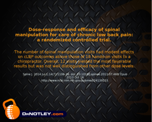Dr Notley DC and Dose response Chronic lower back pain-